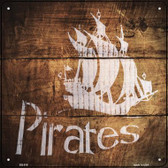 Pirates Painted Stencil Wholesale Novelty Square Sign SQ-516