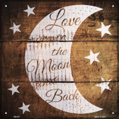 Moon and Back Painted Stencil Wholesale Novelty Square Sign SQ-517