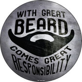 With Great Beard Wholesale Novelty Metal Circular Sign C-981