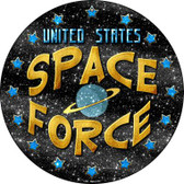 US Space Force Wholesale Novelty Metal Circular Sign C-986