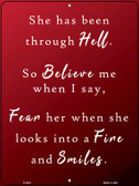 Been Through Hell Wholesale Novelty Metal Parking Sign P-2434