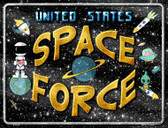 US Space Force Wholesale Novelty Metal Parking Sign P-2444