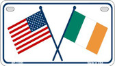 USA / Ireland Flag Wholesale Novelty Metal Motorcycle Plate MP-11695