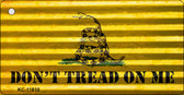 Dont Tread On Me Corrugated Wholesale Novelty Metal Key Chain KC-11810