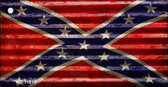 Confederate Flag Corrugated Wholesale Novelty Metal Key Chain KC-11813
