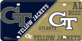 Georgia Tech Yellow Jackets Deluxe Novelty Wholesale Metal License Plate LP-5622