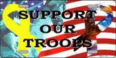 Support Our Troops Ribbon Wholesale Metal Novelty License Plate