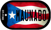 Maunabo Puerto Rico State Flag Wholesale Novelty Metal Dog Tag Necklace DT-11363