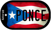 Ponce Puerto Rico State Flag Wholesale Novelty Metal Dog Tag Necklace DT-11372