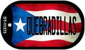 Quebradillas Puerto Rico State Flag Wholesale Novelty Metal Dog Tag Necklace DT-11373