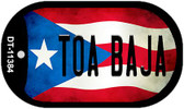 Toa Baja Puerto Rico State Flag Wholesale Novelty Metal Dog Tag Necklace DT-11384