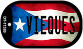 Vieques Puerto Rico State Flag Wholesale Novelty Metal Dog Tag Necklace DT-11389