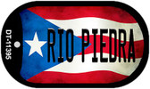Rio Piedra Puerto Rico State Flag Wholesale Novelty Metal Dog Tag Necklace DT-11395