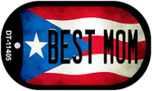 Best Mom Puerto Rico State Flag Wholesale Novelty Metal Dog Tag Necklace DT-11405