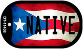 Native Puerto Rico State Flag Wholesale Novelty Metal Dog Tag Necklace DT-11408