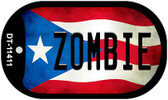 Zombie Puerto Rico State Flag Wholesale Novelty Metal Dog Tag Necklace DT-11411
