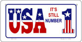 USA Still 1 Wholesale Novelty Metal Bicycle Plate BP-131