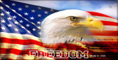 Freedom Eagle Flag Wholesale Novelty Metal Bicycle Plate BP-5002