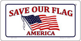 Save Our Flag Wholesale Novelty Metal Bicycle Plate BP-139