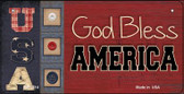 God Bless America USA Wholesale Novelty Metal Bicycle Plate BP-2514