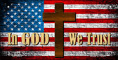 In God We Trust With Cross Wholesale Novelty Metal Bicycle Plate BP-9434