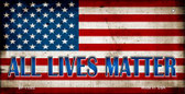 All Lives Matter Wholesale Novelty Metal Bicycle Plate BP-11022