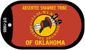 Absentee Shawnee Tribe Wholesale Novelty Metal Dog Tag Necklace DT-1865