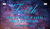 Live By Faith Wholesale Novelty Metal Motorcycle Plate MP-11869