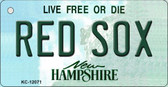 Red Sox New Hampshire State Wholesale Novelty Metal Key Chain KC-12071