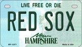 Red Sox New Hampshire State Wholesale Novelty Metal Motorcycle Plate MP-12071
