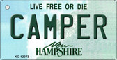 Camper New Hampshire State Wholesale Novelty Metal Key Chain KC-12073