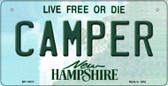 Camper New Hampshire State Wholesale Novelty Metal Bicycle Plate BP-12073
