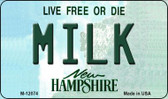 Milk New Hampshire State Wholesale Novelty Metal Magnet M-12074