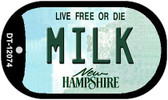 Milk New Hampshire State Wholesale Novelty Metal Dog Tag Necklace DT-12074