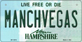 Manchvegas New Hampshire State Wholesale Novelty Metal Bicycle Plate BP-12076