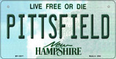 Pittsfield New Hampshire State Wholesale Novelty Metal Bicycle Plate BP-12077