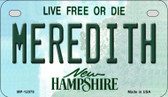 Meredith New Hampshire State Wholesale Novelty Metal Motorcycle Plate MP-12078