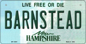 Barnstead New Hampshire State Wholesale Novelty Metal Bicycle Plate BP-12081