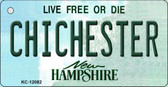 Chichester New Hampshire State Wholesale Novelty Metal Key Chain KC-12082