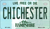 Chichester New Hampshire State Wholesale Novelty Metal Motorcycle Plate MP-12082
