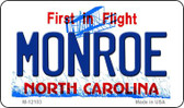 Monroe North Carolina State Wholesale Novelty Metal Magnet M-12103
