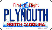 Plymouth North Carolina State Wholesale Novelty Metal Magnet M-12114
