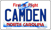 Camden North Carolina State Wholesale Novelty Metal Magnet M-12116