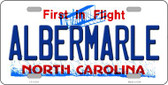Albermarle North Carolina State Wholesale Novelty Metal License Plate LP-12124