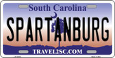 Spartanburg South Carolina State Wholesale Novelty Metal License Plate LP-12129