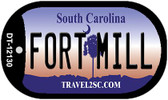 Fort Mill South Carolina State Wholesale Novelty Metal Dog Tag Necklace DT-12130