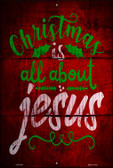 All About Jesus Wholesale Novelty Metal Large Parking Sign LGP-2472