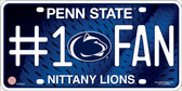 Penn State Fan Wholesale Metal Novelty License Plate LP-956