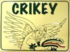 Crikey Steve Irwin Wholesale Metal Novelty Parking Sign