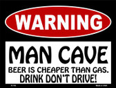 Beer Cheaper Than Gas Wholesale Metal Novelty Parking Sign P-176